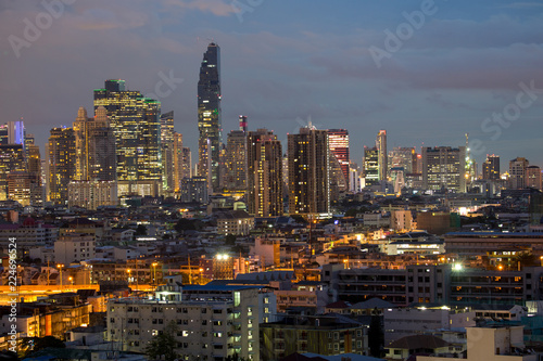 Canvas Prints New York bangkok by day with clouds