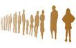 Silhouetten von Menschengruppe