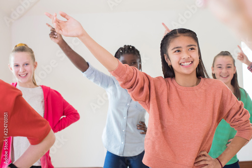 Wallpaper Mural Group Of Children Enjoying Drama Class Together