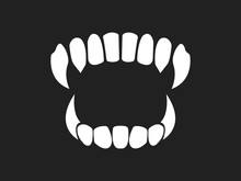 Vampire's Teeth Icon Isolated ...