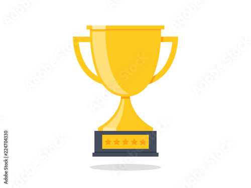 Fototapety, obrazy: Trophy Cup Vector Flat Icon
