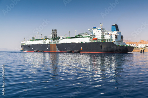 Huge oil tanker moored in Aqaba port