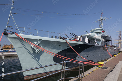 Ship museum Grom class destroyer ORP Blyskawica (Thunderbolt