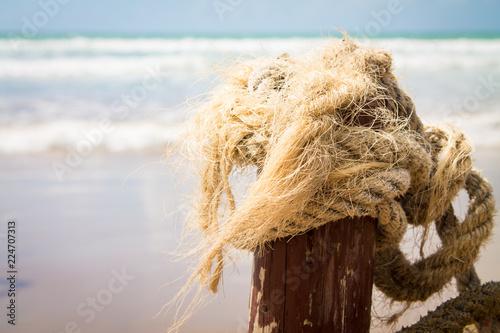 Poster Kust The coast of the Atlantic Ocean. The beach is near Agadir. Africa Morocco