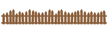 Beautiful Brown Wooden Fence. ...