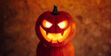 Jack-o-lantern Pumpkin Orange Light, Halloween Background