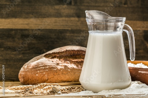 Jug of Milk with Bread