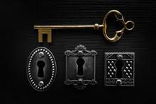Three Locks And Gold Key
