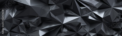 renderowania-3d-abstrakcyjne-tlo-czarne-krysztalu-fasetowana-tekstura-panorama-makro-szeroka-panoramiczna-tapeta-wielokatna