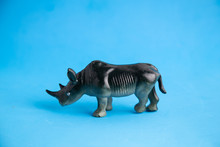 Rhino Toy On Colorful Background