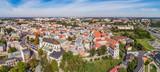 Fototapeta Miasto - Lublin - panoram miasta z lotu ptaka, widok na stare miasto. Zabytkowa część miasta Lublin widziana z powietrza.