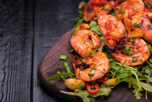 Fried Prawns With Pepper, Garl...