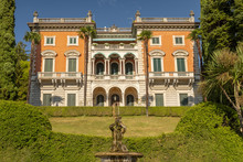 Villa Maria, Monumental Residence Built In Neo Renaissance Style Between 1889 And 1892 By The Engineer Giacomo Mantegazza, Griante, Como Lake Italy.