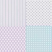 Small Blue Purple Vector Geometric Patterns