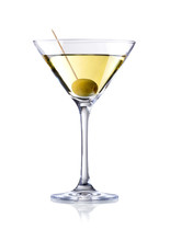 Martini Cocktail , Isolated On...