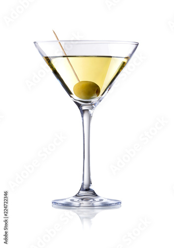 martini cocktail , isolated on white