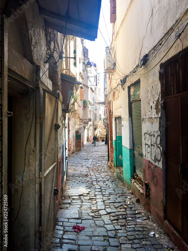 Photo Casbah Of Algiers. Streets of the old town.