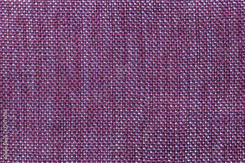 Foto op Plexiglas Macrofotografie Dark violet textile background with checkered pattern, closeup. Structure of the fabric macro.