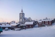 Winter And Snow  - Roeros Church In Norway