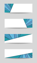 Four Banners. Set Of Headers, ...