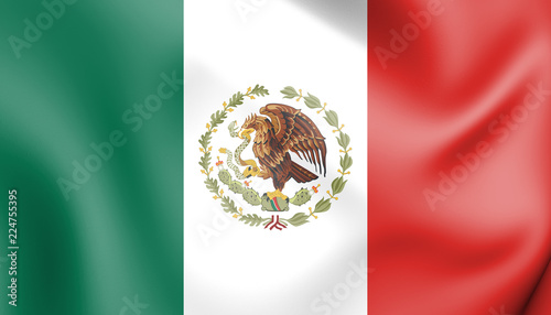 Fotografia  3D Flag of Mexico (1934-1968).