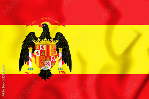 Photographie  3D Flag of Spain (1977-1981).