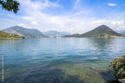 Landscape of Lake Como northern Italy