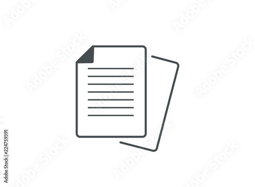 Fotografie, Obraz Office and Business Document Icon