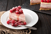 Cheesecake, Piece, Plate, Rasp...