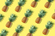 canvas print picture - Colorful fruit pattern of fresh whole pineapples
