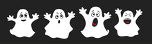 Set Of Cute Ghosts, Apparition...