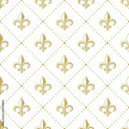 Tapety Francuskie  zloty-wzor-z-fleur-de-lis-ilustracja-wektorowa