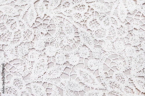 Photo  Lace cloth macrame of their cotton and polyamide of ivory