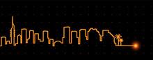 Tel Aviv Light Streak Skyline