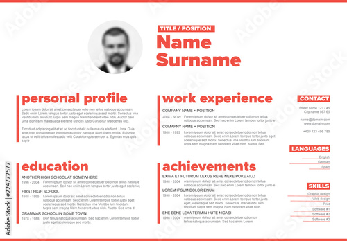 horizontal resume layout  buy this stock template and explore similar templates at adobe stock