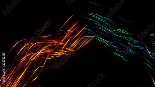 Neon sparks on a dark background. Abstract dark background.