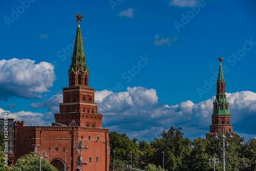 Fotobehang Moskou Moskau Kreml Türme