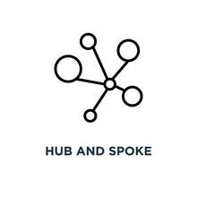 Hub And Spoke Icon. Linear Sim...