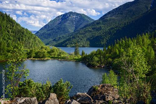 Lake Sobolinoye (Sable) in the mountains of Khamar-Daban, Pribaikalye, the Republic of Buryatia