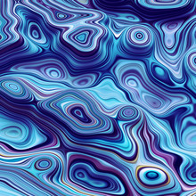 3d Abstract Blue Wavy Lines Ba...
