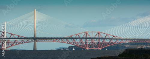 Canvas Prints Bridge forth bridges illuminated
