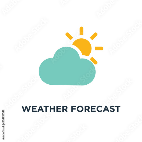 Obraz weather forecast icon. seasons clouds concept symbol design, vector illustration - fototapety do salonu