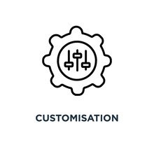 Customisation Icon. Customisat...