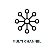 Multi Channel Icon. Multi Channel Concept Symbol Design, Vector