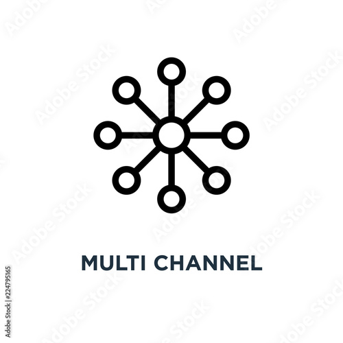 Leinwand Poster multi channel icon. multi channel concept symbol design, vector