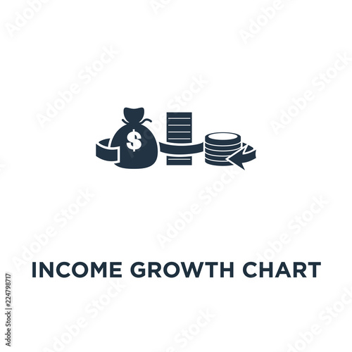 Income Growth Chart Icon Banking Services Pension Savings Account