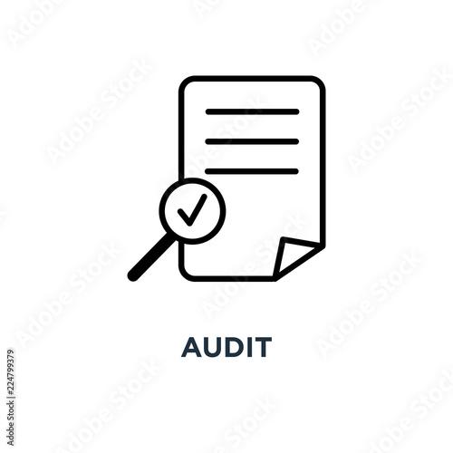 Photo audit icon. audit concept symbol design, vector illustration
