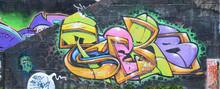 Fragment Of Graffiti Drawings....