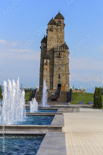 Fotografie, Tablou  memorial of glory, Park with historical building
