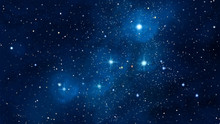 Cassiopeia Constellation In The Night Sky Illustration